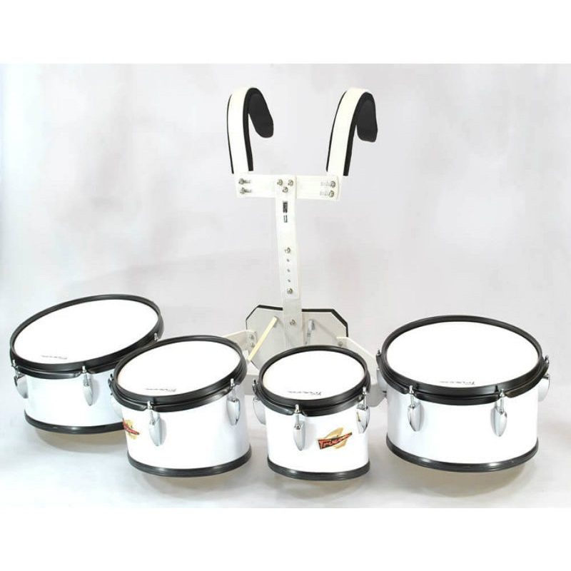 Trixon Field Series II Marching Toms - Set of 4 - White