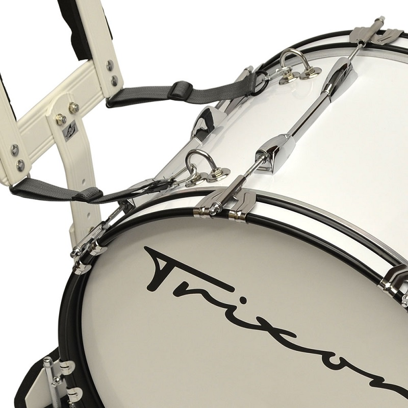 Field Series Marching Bass Drum 18x12 - White