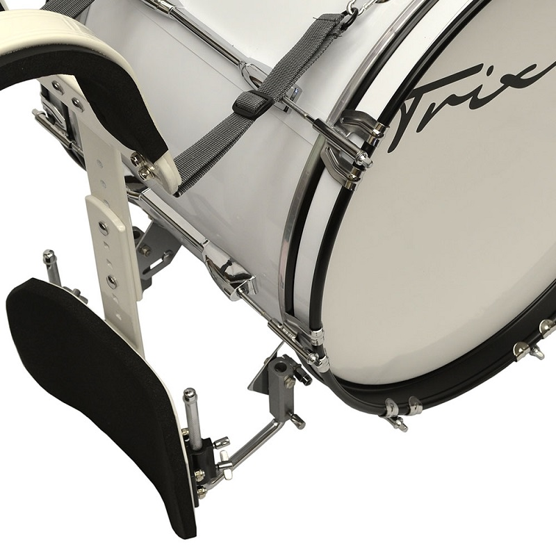 Trixon Field Series Marching Bass Drum 18x12 - White