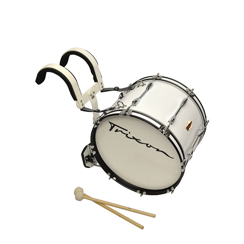 Trixon Field Series Marching Bass Drum 22x12 - White