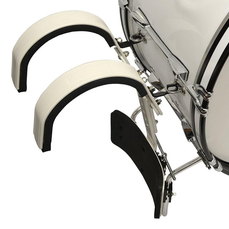 Trixon Field Series Marching Bass Drum 18x14 - White
