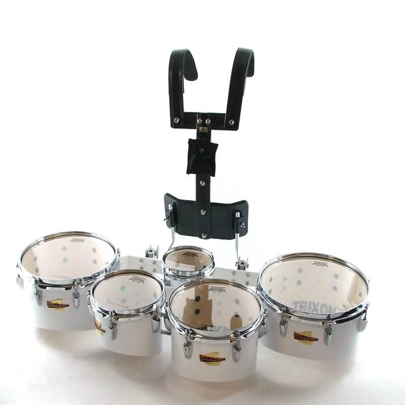 Field Series Tenor Marching Toms - Set Of 5 - White