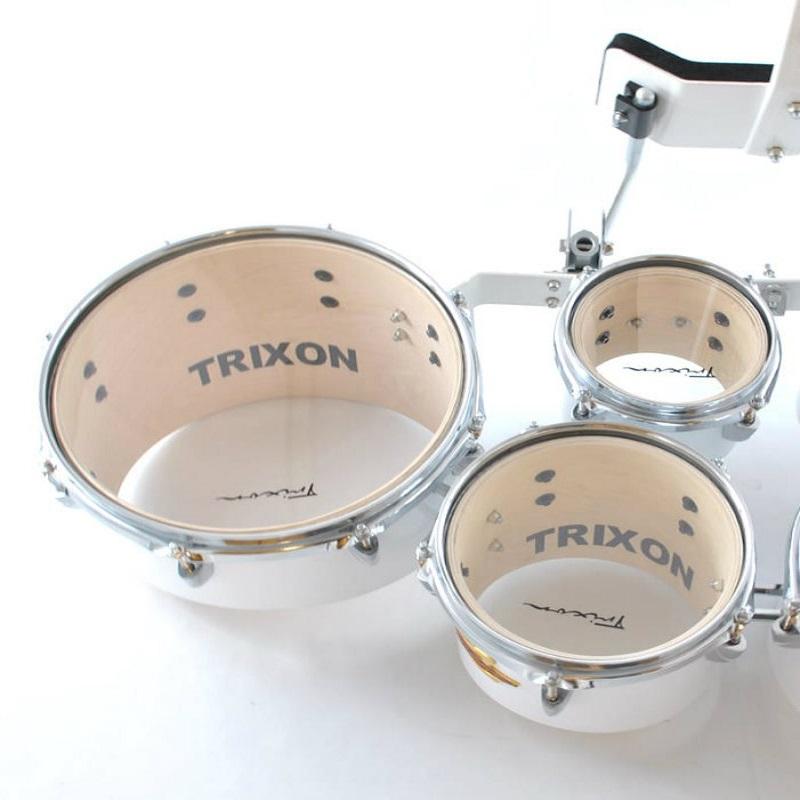 Trixon Field Series Tenor Marching Toms - Set Of 6 - White