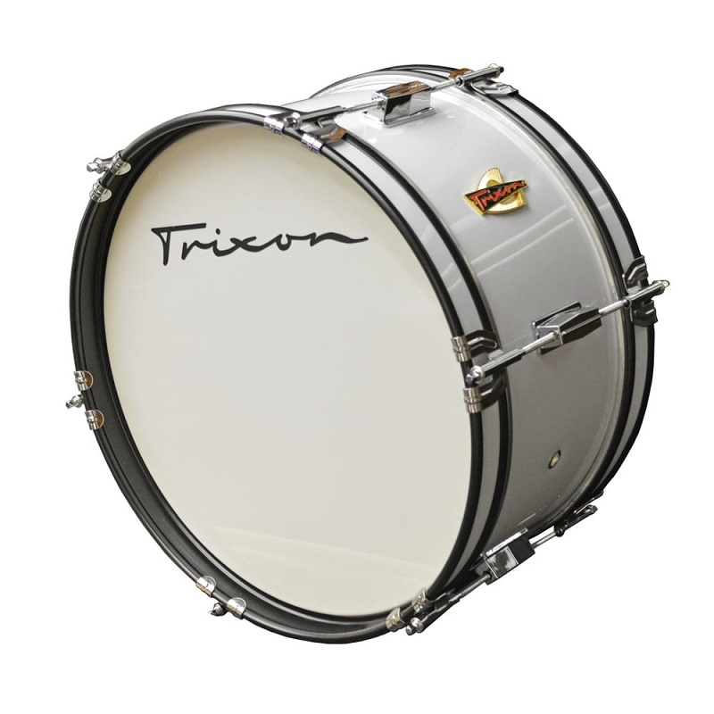 Junior Marching Bass Drum - White
