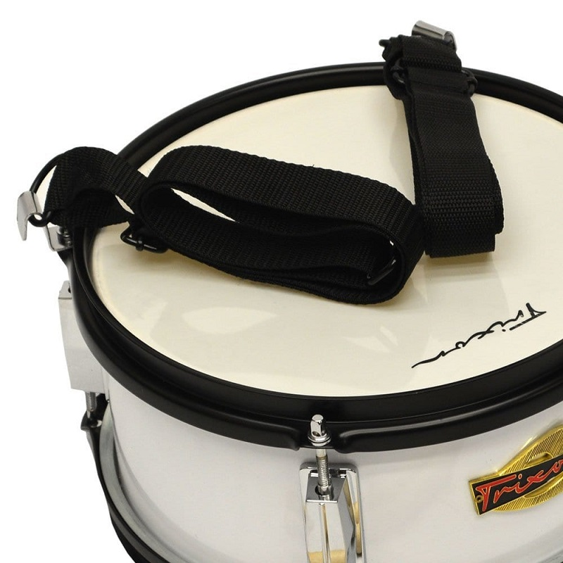 Junior Marching Snare Drum - White Polish