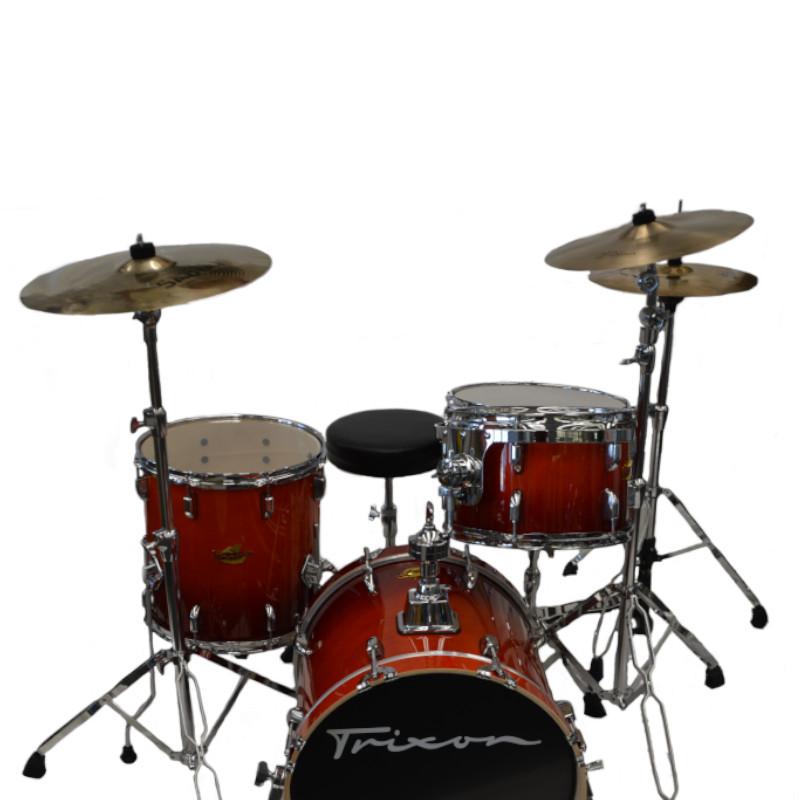 Trixon 4 Piece Swing Drumset - Orange Fade