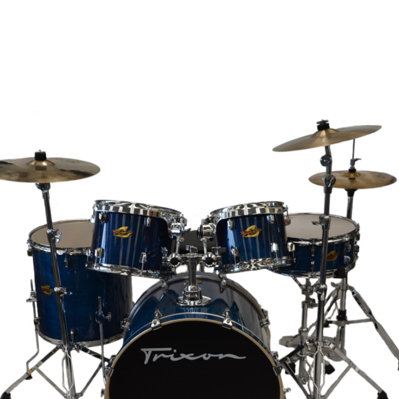 Solist 5 Piece Drumset - Transparent Blue