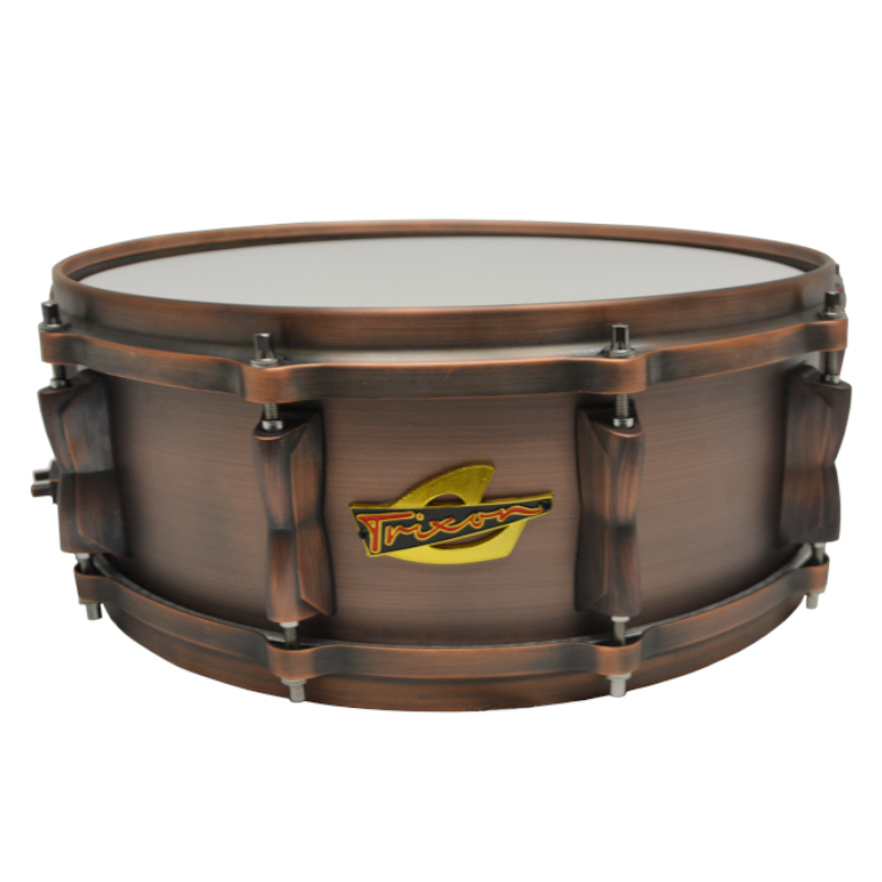 Trixon Solist Brushed Copper Snare Drum 14