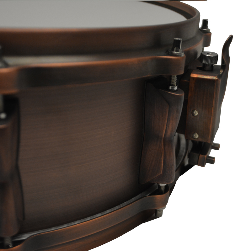 "Solist Brushed Copper Snare Drum 14"" by 5"""