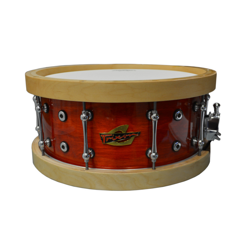 Solist Elite Wood Shell Snare Vintage Orange Lacquer With Wood Hoops 14