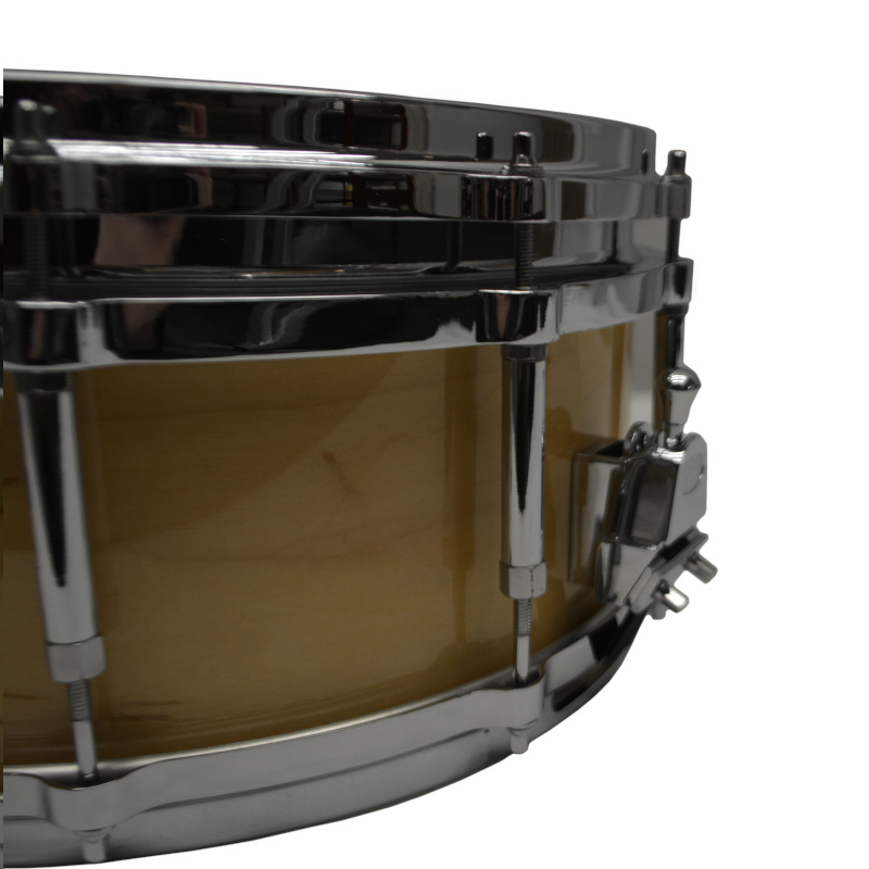Vintage Double Hoop Wood Shell Snare with Diecast Hoops 14